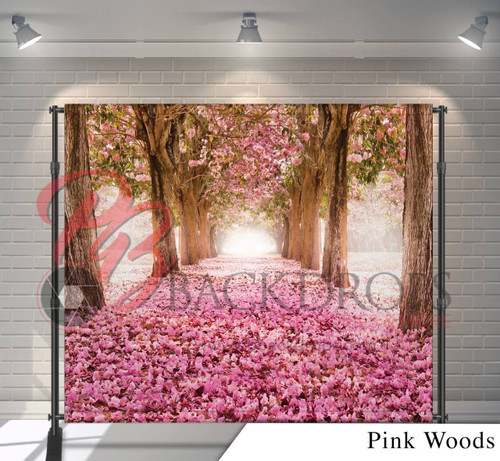 8x8 Printed Tension fabric backdrop - Pink Woods | PB Backdrops