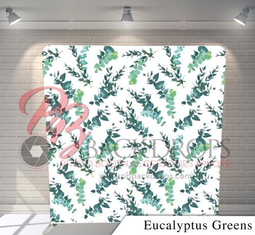 Single-sided Pillow Cover Backdrop  - Eucalyptus Greens | PB Backdrops