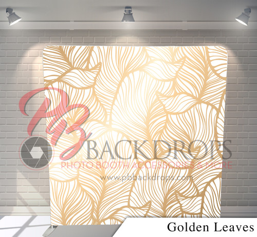 Single-sided Pillow Cover Backdrop  - Golden Leaves | PB Backdrops