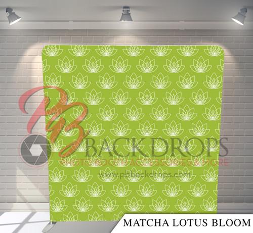 Single-sided Pillow Cover Backdrop  - Matcha Lotus   PB Backdrops