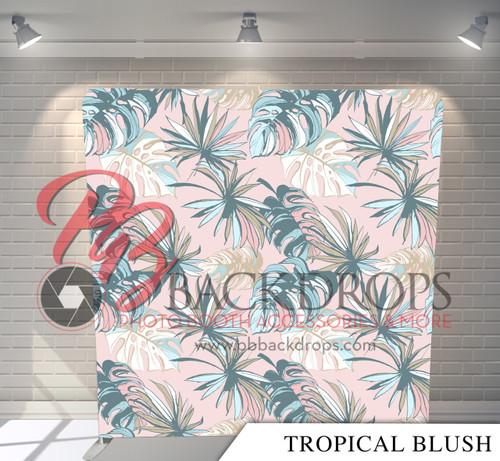 Single-sided Pillow Cover Backdrop  - Tropical Blush   PB Backdrops