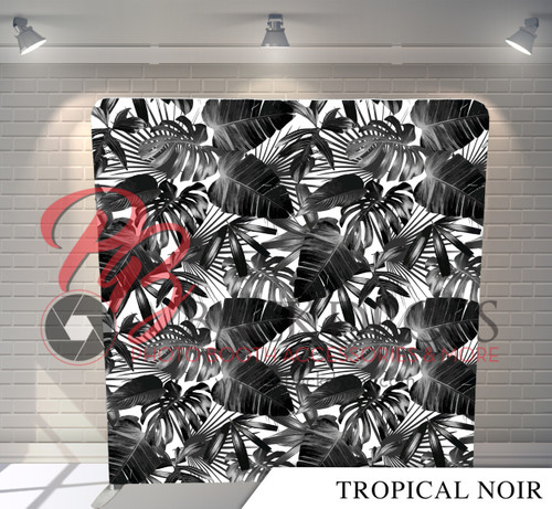Single-sided Pillow Cover Backdrop  - Tropical Noir   PB Backdrops