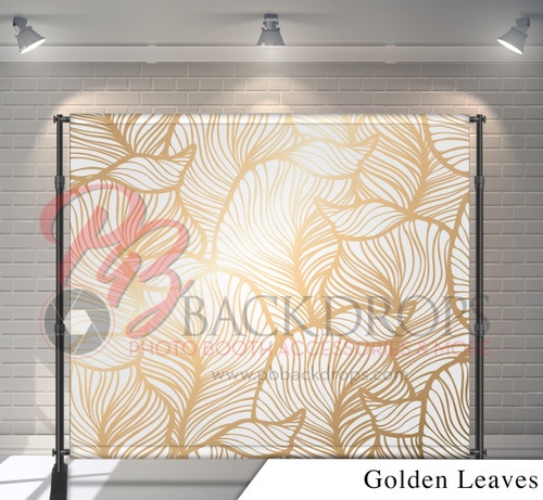 8x8 Printed Tension fabric backdrop - Golden Leaves | PB Backdrops