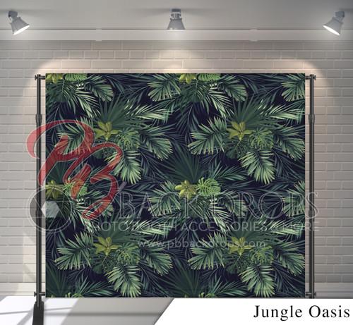 8x8 Printed Tension fabric backdrop - Jungle Oasis | PB Backdrops