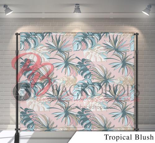 8x8 Printed Tension fabric backdrop - Tropical Blush | PB Backdrops