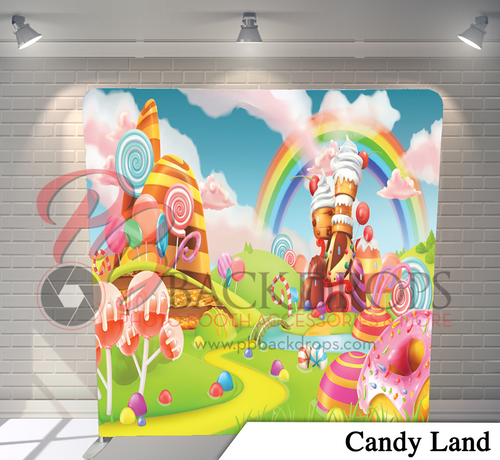 Single-sided Pillow Cover Backdrop  - Candy Land | PB Backdrops