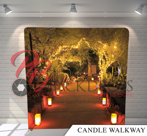Single-sided Pillow Cover Backdrop  - Candle Walkway | PB Backdrops