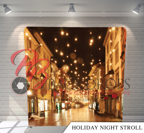 Single-sided Pillow Cover Backdrop  - Holiday Night Stroll | PB Backdrops