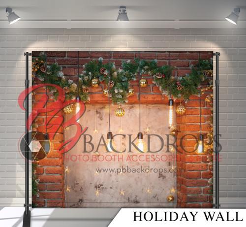 8x8 Printed Tension fabric backdrop - Holiday Wall | PB Backdrops