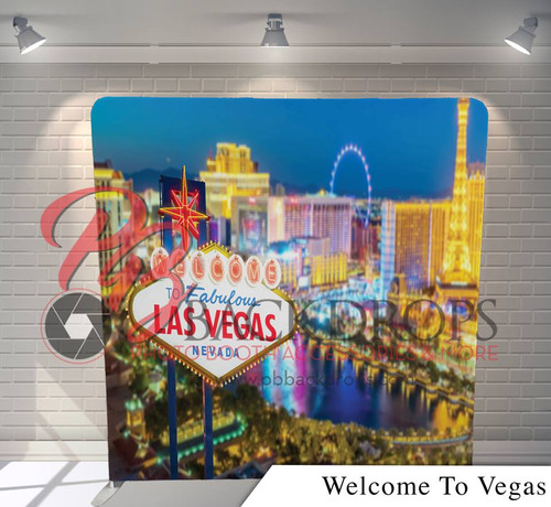 Single-sided Pillow Cover Backdrop  - Welcome to Vegas | PB Backdrops