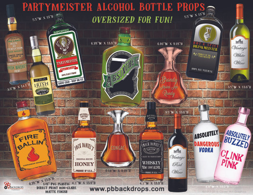 Party Meister Alcohol Bottle Props Oversized