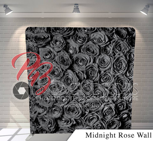 Single-sided Pillow Cover Backdrop  - Midnight Rose Wall | PB Backdrops