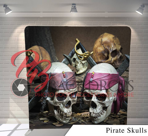 Single-sided Pillow Cover Backdrop  (Pirate Skulls)