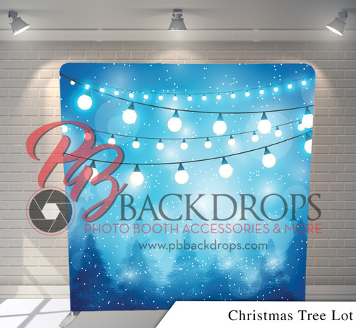 Single-sided Pillow Cover Backdrop  (Christmas Tree Lot)