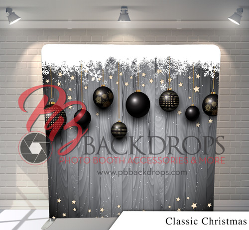 Single-sided Pillow Cover Backdrop  (Classic Christmass)