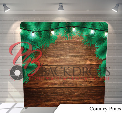 Single-sided Pillow Cover Backdrop  (Country Pines)