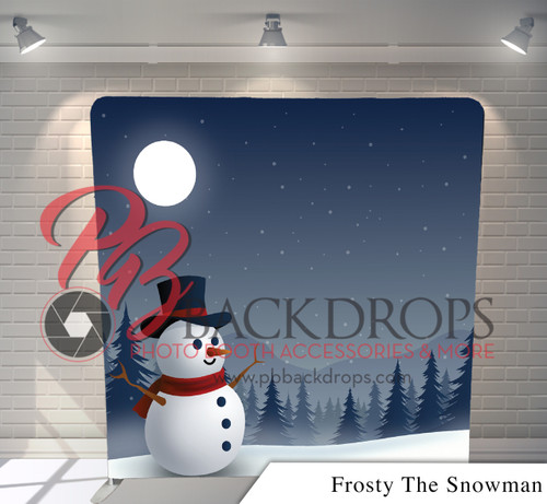 Single-sided Pillow Cover Backdrop  (Frosty The Snowman)