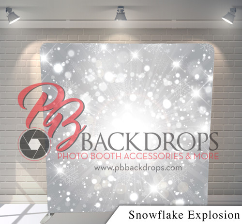 Single-sided Pillow Cover Backdrop  (Snowflake Explosion)