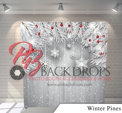 Single-sided Pillow Cover Backdrop  (Winter Pines)