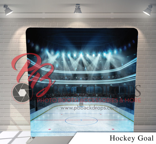 Single-sided Pillow Cover Backdrop  (Hockey Goal)