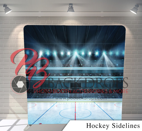 Single-sided Pillow Cover Backdrop  (Hockey Sideline)