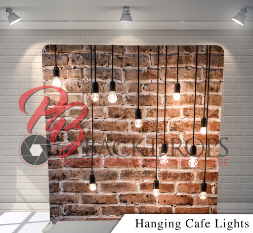 Single-sided Pillow Cover Backdrop  (Hanging Cafe Lights)