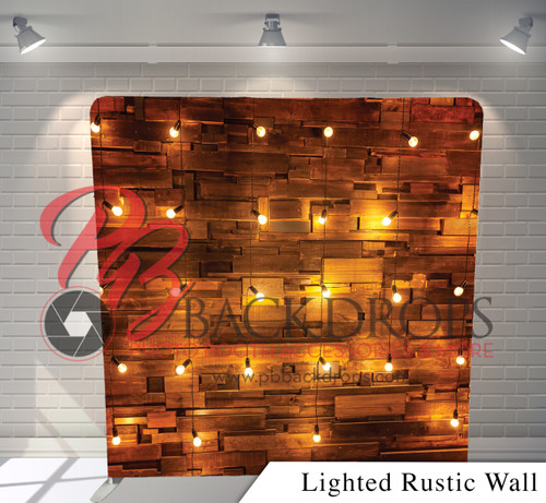 Single-sided Pillow Cover Backdrop  (Lighted Rustic Wall)