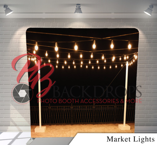Single-sided Pillow Cover Backdrop  (Market Lights)