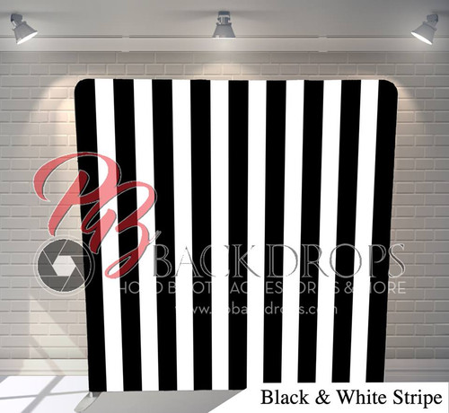 Single-sided Pillow Cover Backdrop  (Black and White Stripes)