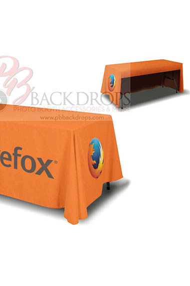6ft Table Cover 4-sided (Open Back)