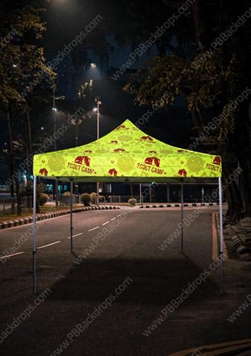 Fluorescent 10x10 Advertising Tent