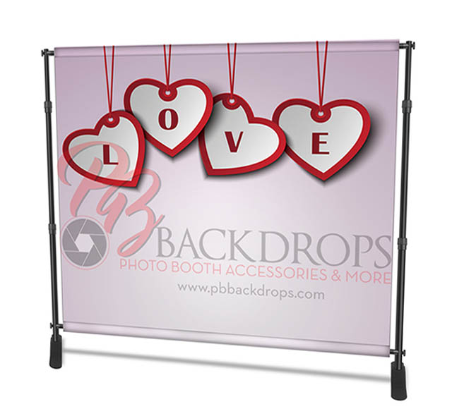 8X8 Tension Fabric Photo Booth Backdrops