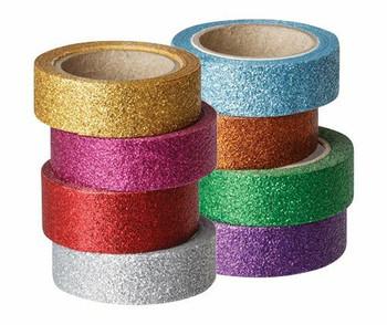 Washi Tape Glitter - Pack of 8