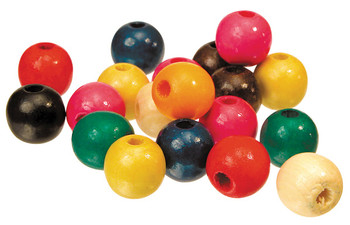 Wooden Beads Assorted 16mm - Pack of 100