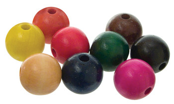 Wooden Beads Assorted 25mm - Pack of 100