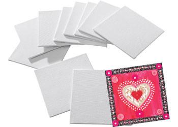 "Mini Canvas Board – Pack of 10 (4""x 4"")"
