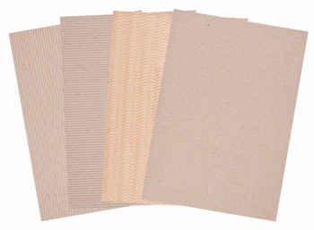 Corrugated Natural Card A4 - Pack of 20