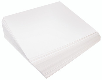 Cardboard Squares White 300gsm - Pack of 100