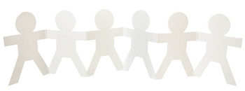 Cardboard Fold-Up People - Pack of 25