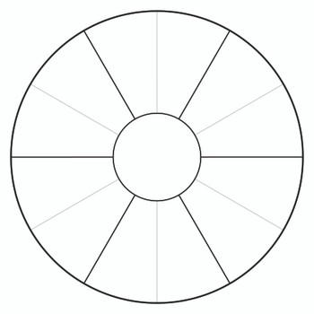 Cardboard Colour Wheel Template - Pack of 10