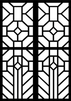 Cardboard Stained Glass Frames A4 – Pack of 20