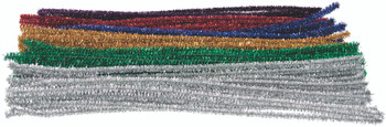 Tinsel Chenille Stems - 30cm (Pack of 150)