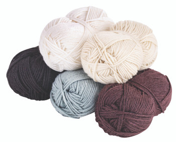 Acrylic Wool Assorted - Neutral (Pack of 5)