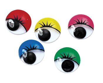 Joggle Eyes with Lashes - 15mm (Pack of 100)