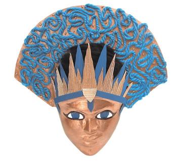 Papier Mache - Headdress Face Mask