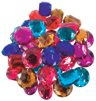 Giant Sew On Jewels - Pack of 40
