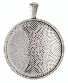 Pendant Cabochon Setting - Silver (Pack of 30)