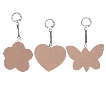 Wooden Key Chain - Large (Pack of 10)