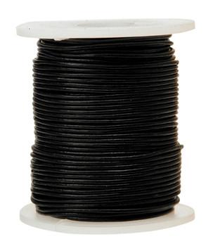Leather Cord - Black (50m)