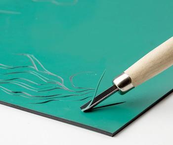 Velvet Print - Lino Tile Double Sided (40 x 60cm)
